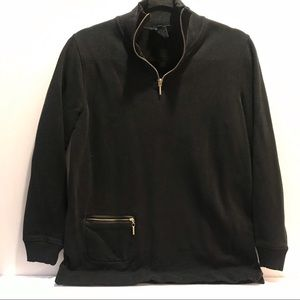 Black pullover sweaters by Ralph Lauren